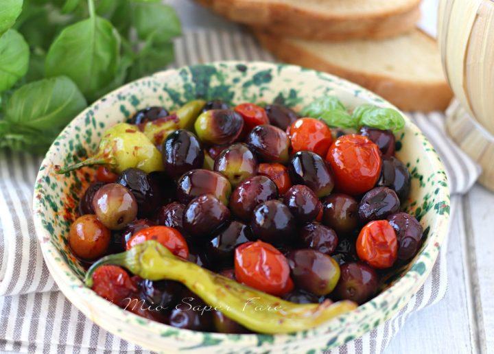 Olive fritte con pomodori e friggitelli ricetta il mio saper fare