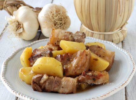 Spezzatino di maiale con patate ricetta secondo e contorno