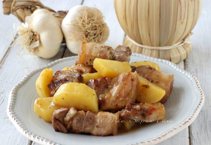 Spezzatino di maiale con patate ricetta secondo e contorno il mio saper fare