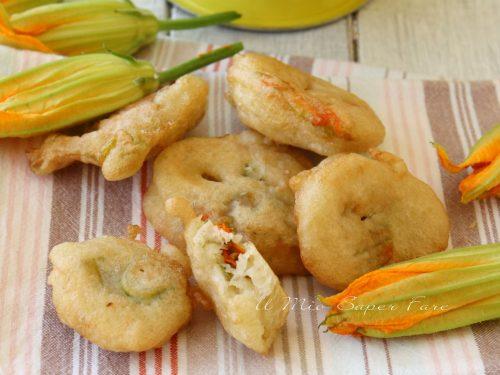 Frittelle di fiori di zucca ricetta contorno sfizioso