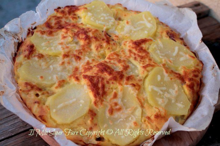 Schiacciata di patate con lievito istantaneo ricetta il mio saper fare
