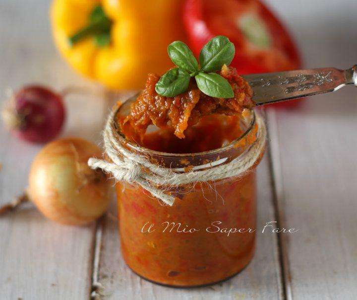 Salsa di peperoni ricetta conserva il mio saper fare