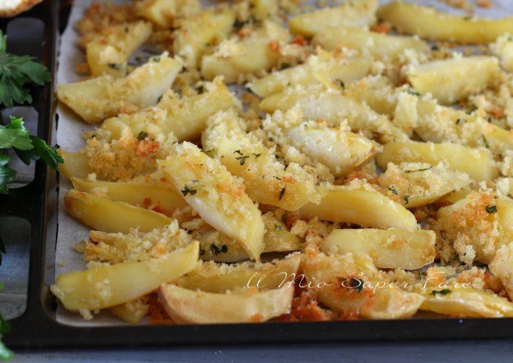 Patate gratinate con mollica croccante ricetta il mio saper fare