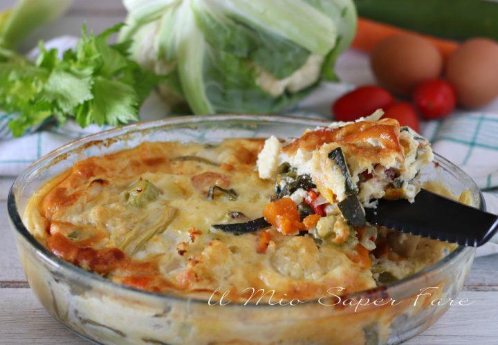 Sformato di verdure ricetta contorno vegetariano il mio saper fare