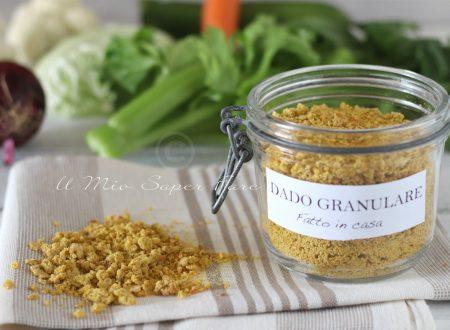 Dado vegetale granulare essiccato fatto in casa