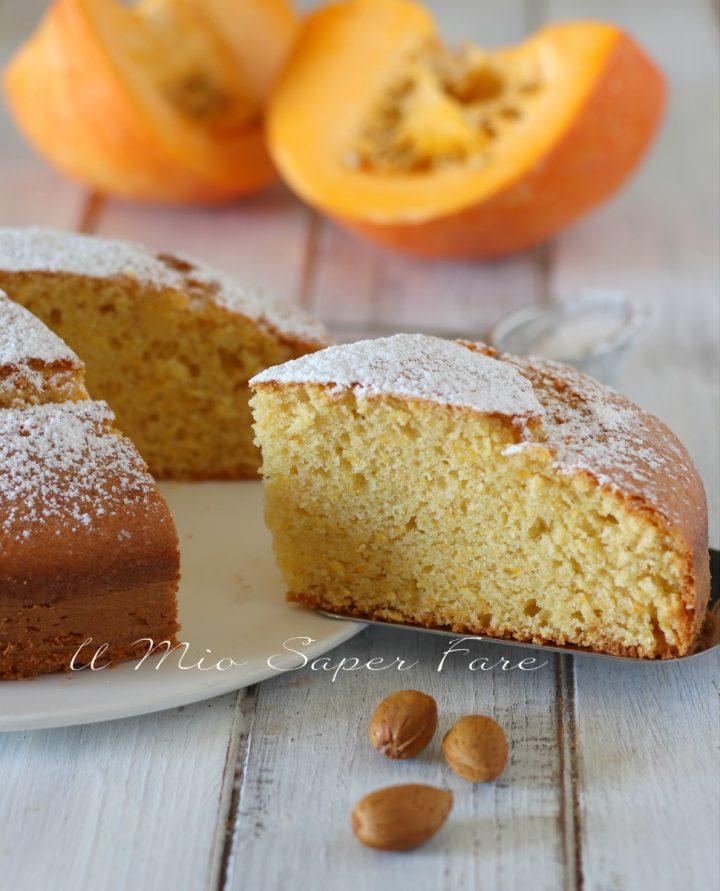 Torta alla zucca con mandorle ricetta Pumpkin Cake il mio saper fare