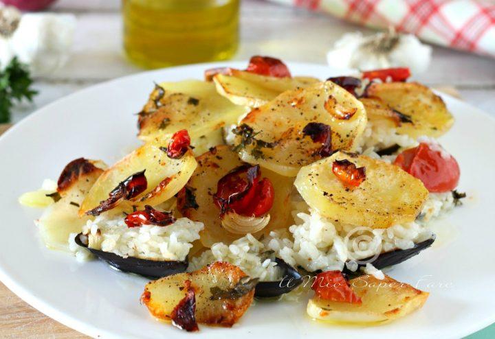 Riso patate e cozze ricetta tiella alla barese il mio saper fare