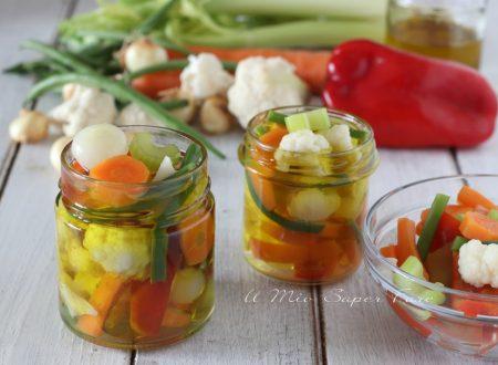 Giardiniera di verdure miste sottolio ricetta contorno