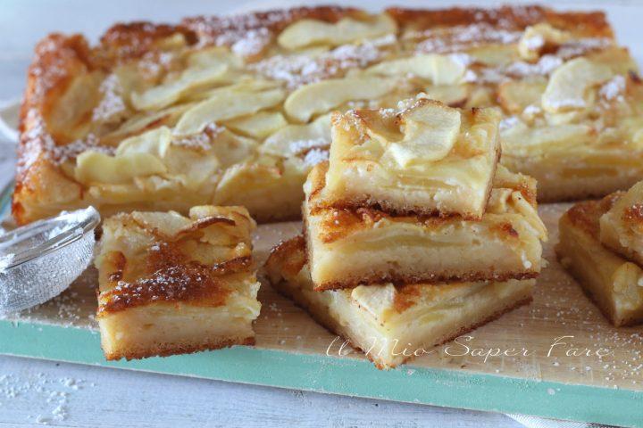 Torta di mele cremosa al latte ricetta il mio saper fare