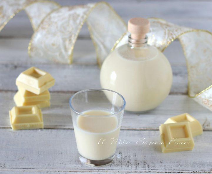 Liquore al cioccolato bianco fatto in casa ricetta il mio saper fare