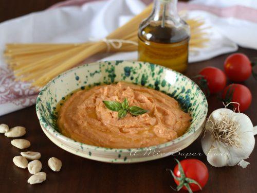 Pesto alla siciliana ricetta con ricotta e pomodori