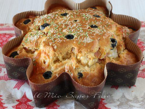 Stella salata antipasto Natale ricetta torta rustica