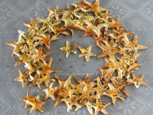 Ghirlanda di stelle per ANTIPASTO natalizio