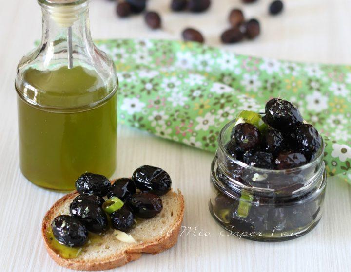Olive nere essiccate con essiccatore il mio saper fare
