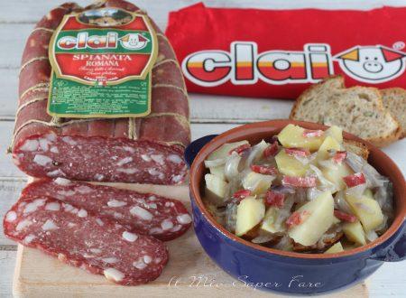 Licurdia calabrese ricetta zuppa di cipolle con spianata romana Clai