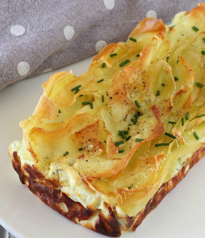 Sformato di ricotta con patate croccanti ricetta il mio saper fare