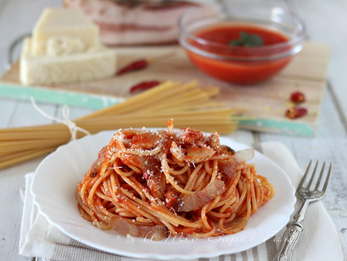 Wwwricetta Amatriciana.Sugo Alla Amatriciana Ricetta Originale Condimento Per Pasta