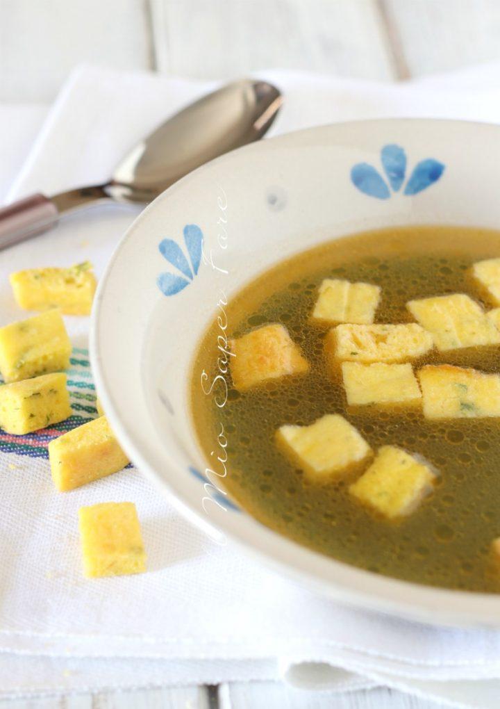 Minestra imperiale ricetta zuppa di semolino  il mio saper fare