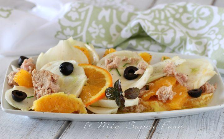 Insalata tonno finocchi e arance ricetta il mio saper fare