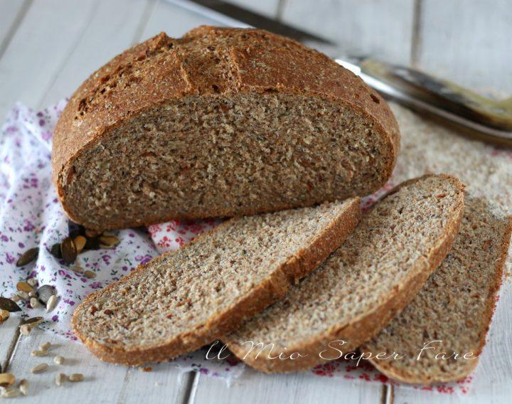 Pane con farina integrale ricetta Bimby il mio saper fare