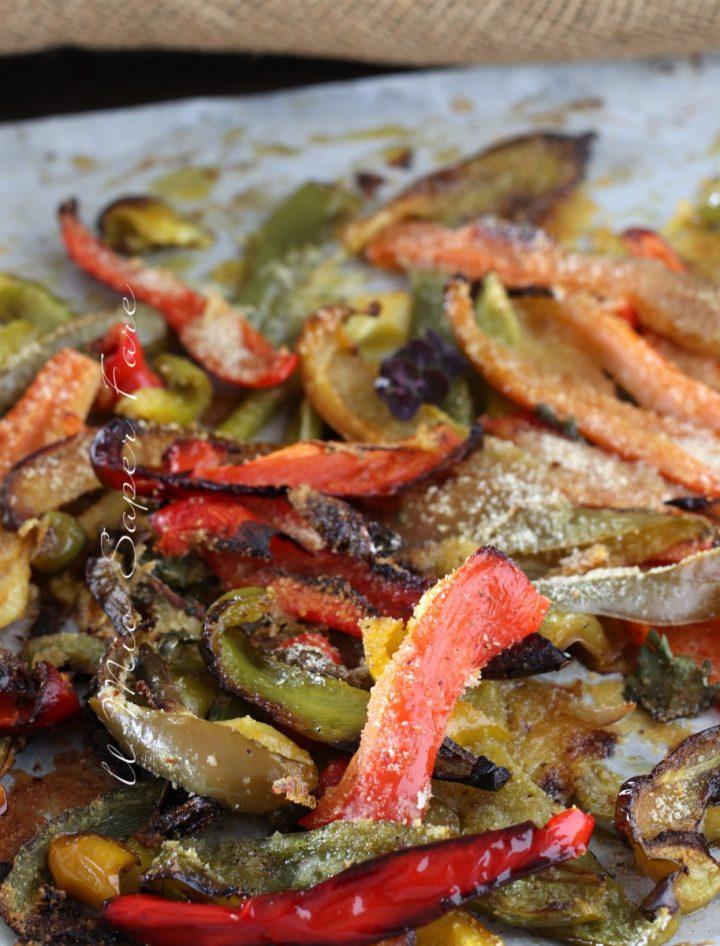Peperoni gratinati al forno ricetta antipasto contorno vegetariano  il mio saper fare