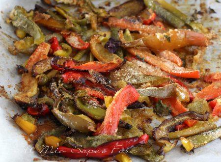 Peperoni gratinati al forno ricetta antipasto contorno vegetariano