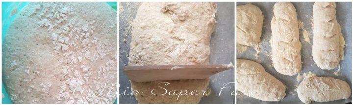 Pane con farina tipo 1 fatto in casa senza impasto il mio saper fare