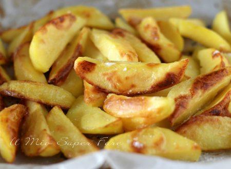 Ricetta spicchi di patate al forno croccanti
