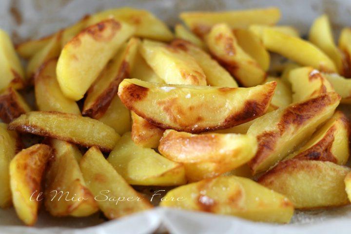 Ricetta spicchi di patate al forno croccanti il mio saper fare