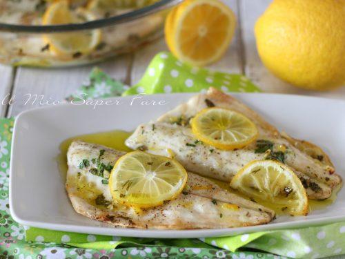 BRANZINO al LIMONE ricetta di pesce leggera e gustosa