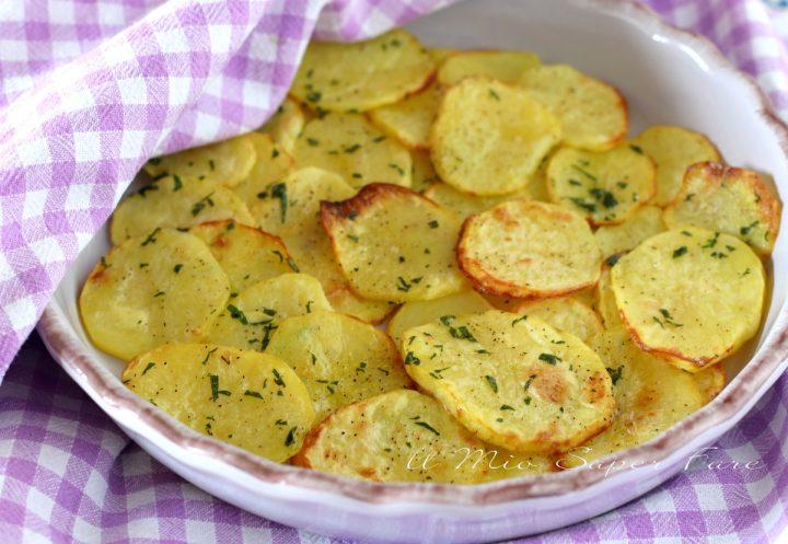 CHIPS di patate al FORNO croccanti ricetta ANTIPASTO il mio saper fare
