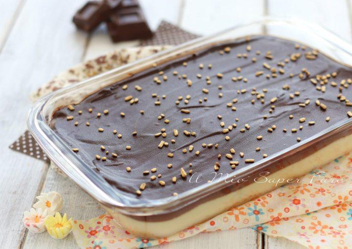 DOLCE di BISCOTTI e CREMA con ganache al cioccolato il mio saper fare