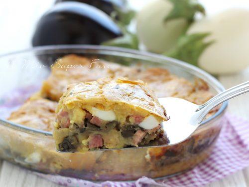 GATEAU di PATATE e MELANZANE ricetta TORTA rustica