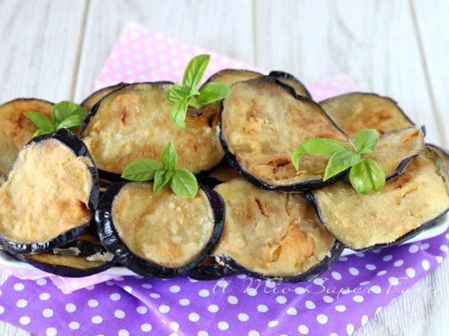 MELANZANE FRITTE con solo farina senza uova ricetta ANTIPASTO e CONTORNO