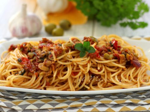 SPAGHETTI alla PANTESCA ricetta PASTA veloce e facile