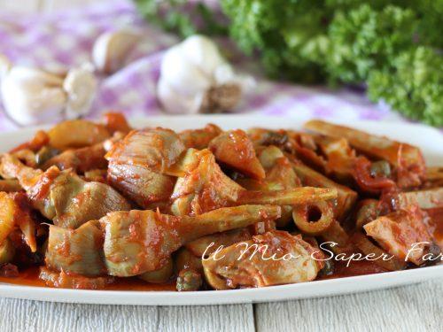 CAPONATA di CARCIOFI alla SICILIANA ricetta