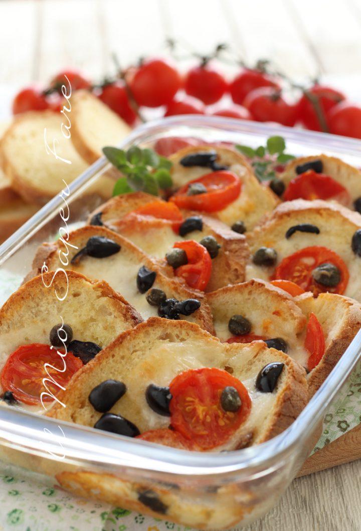 CROSTONI PANE e MOZZARELLA alla CARRETTIERA ricetta siciliana  il mio saper fare