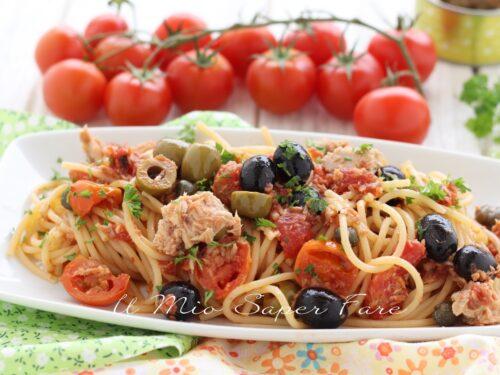 PASTA alla ZINGARA ricetta con tonno e olive