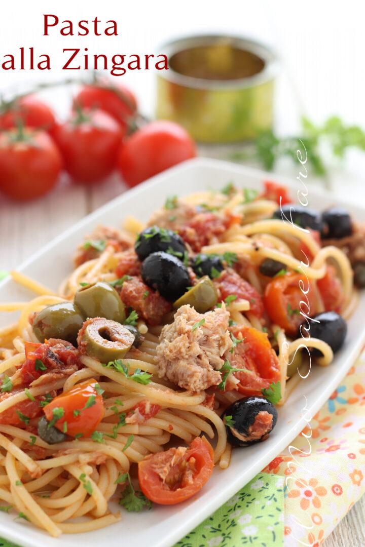 PASTA alla ZINGARA ricetta con tonno e olive  il mio saper fare