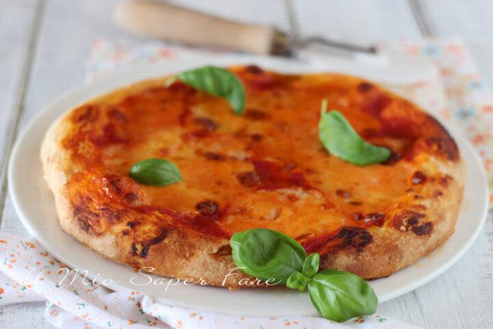 PIZZA AL PIATTO doppia cottura padella e forno ricetta il mio saper fare