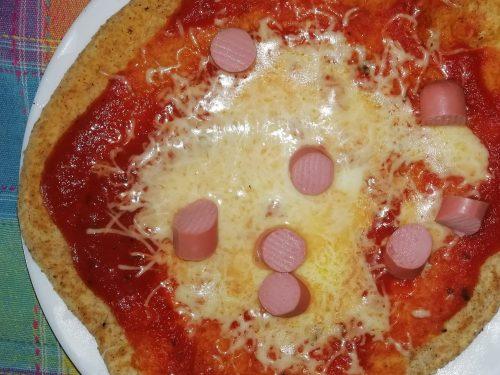 Pizza integrale in padella