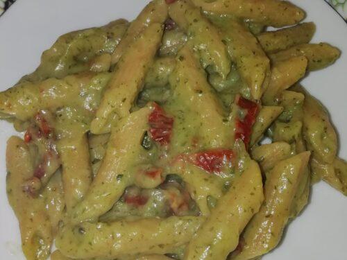 pasta con crema di zucchine e pomodoro secco Bimby