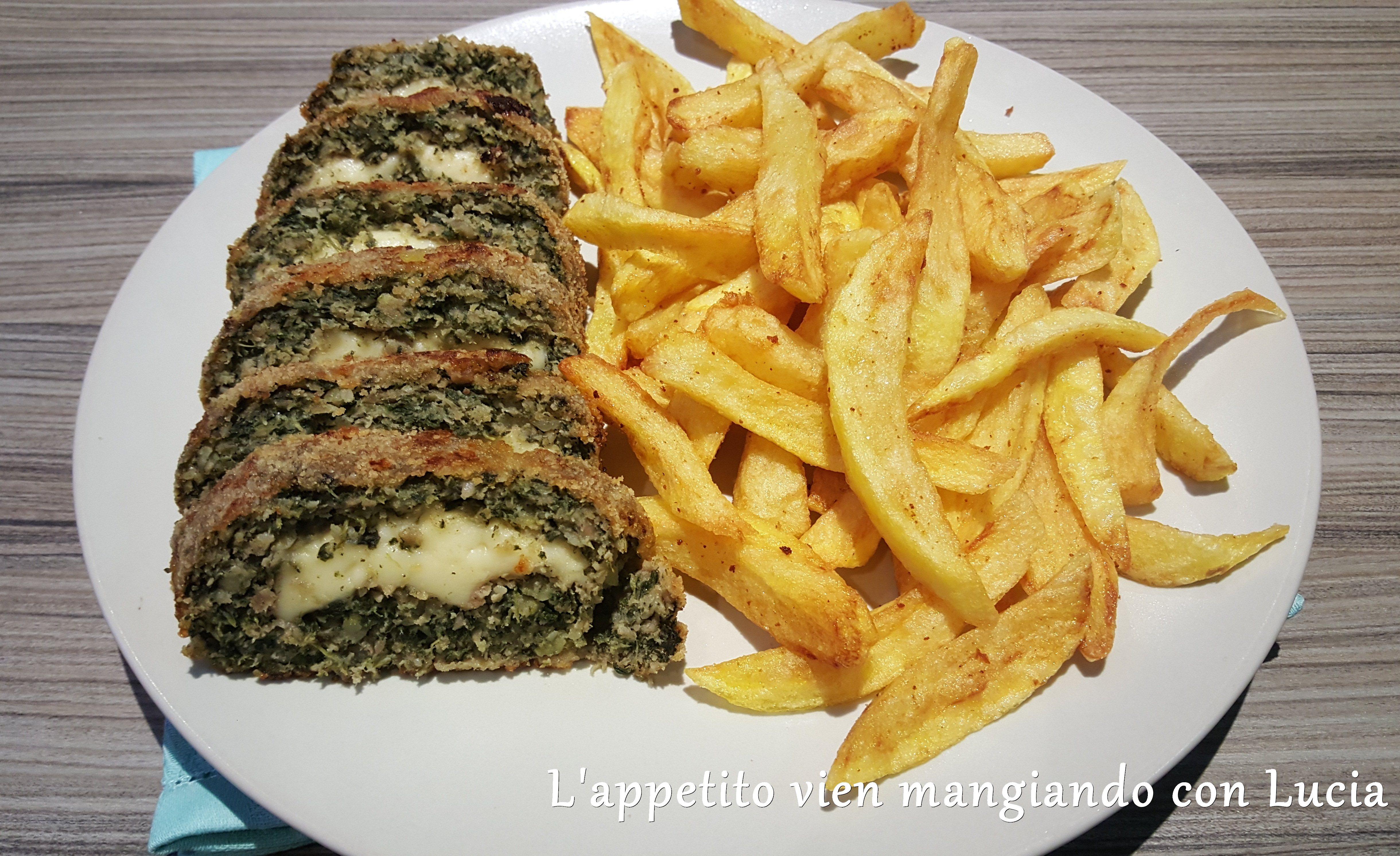 Polpettone di carne e spinaci  con ripieno al formaggio