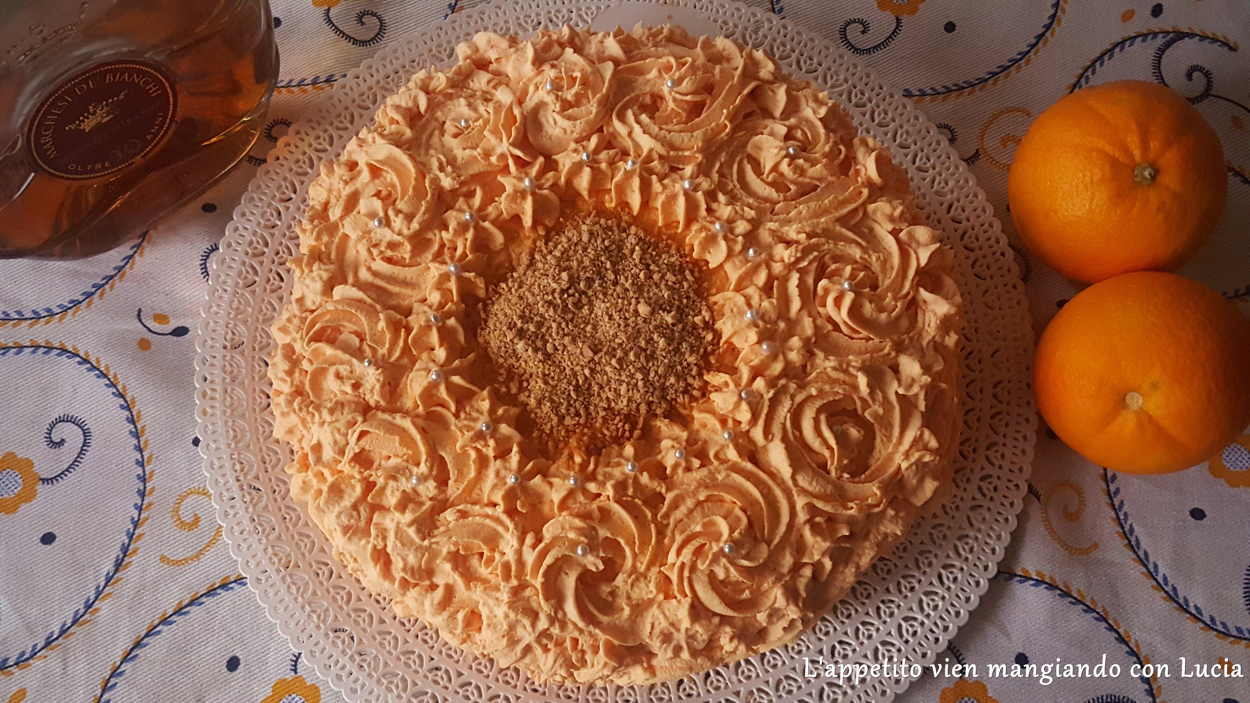 Torta farcita con crema all 39 arancia senza glutine l - Differenza panna da cucina e panna fresca ...