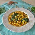 minestra di ceci e spinaci allo zafferano
