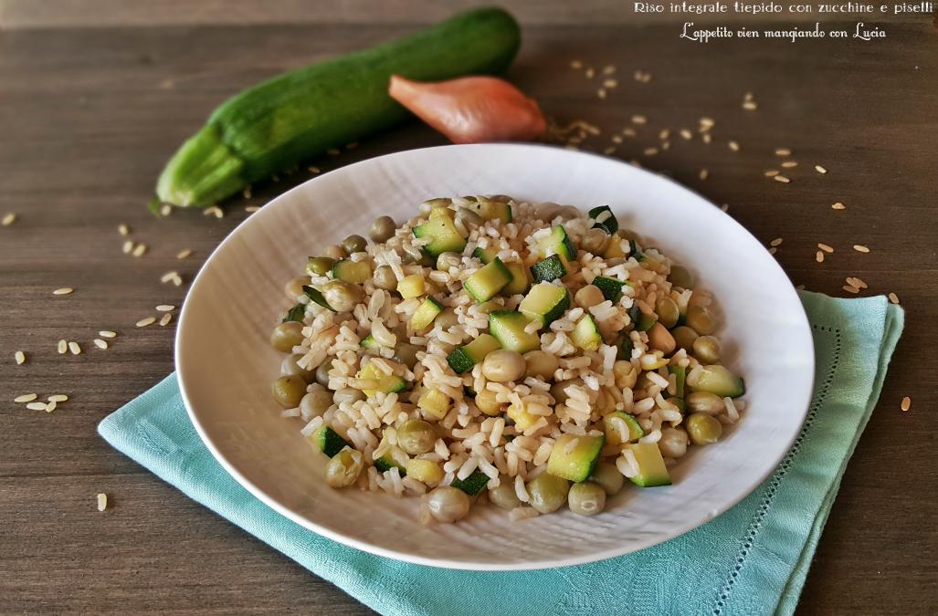 Riso integrale con zucchine e piselli l 39 appetito vien mangiando con lucia - Cucinare riso integrale ...