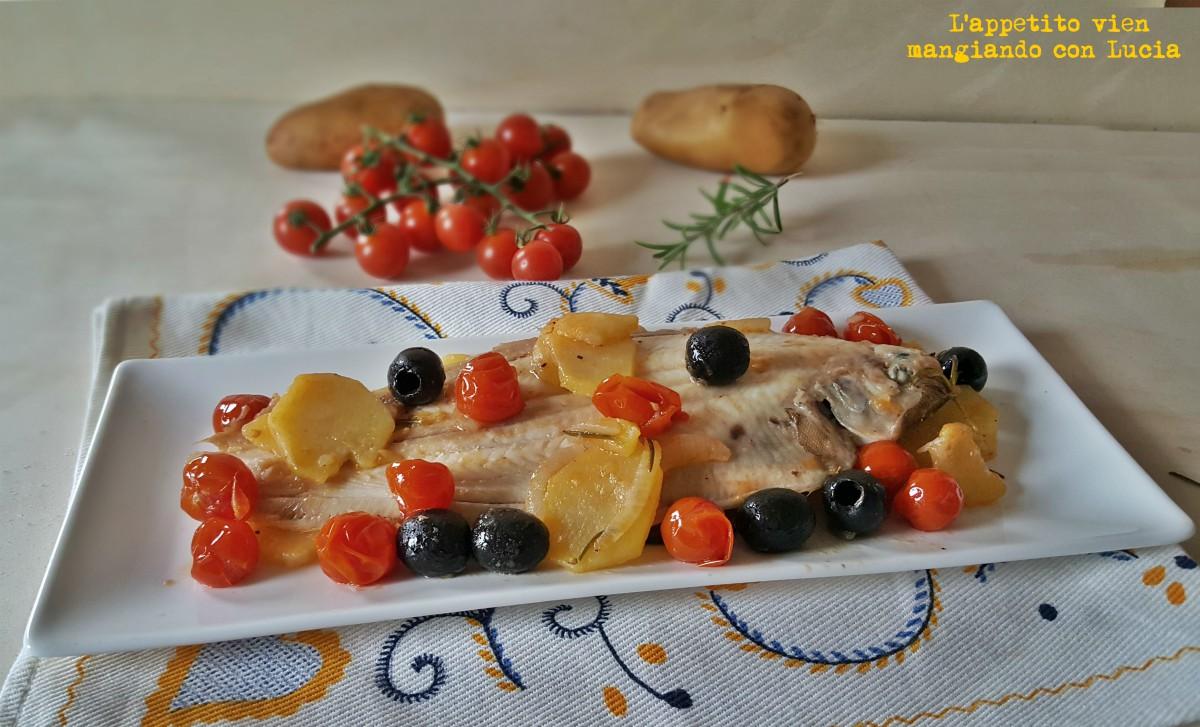 Filetti di sogliola con pomodorini e patate l 39 appetito for Cucinare sogliola