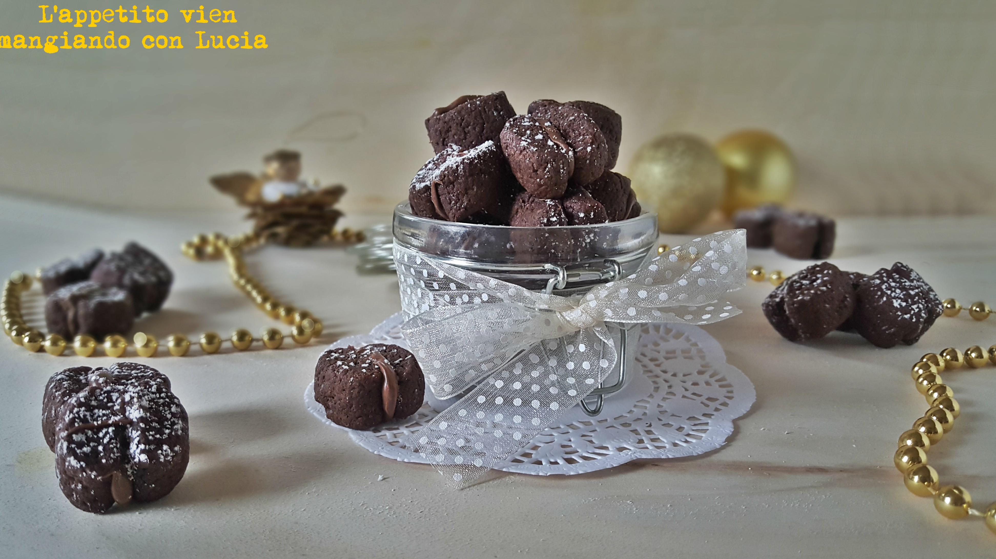 Biscotti al marsala con crema di nocciole