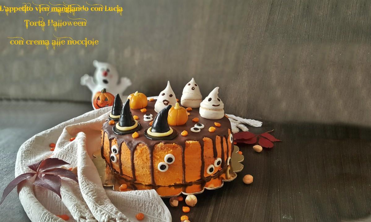 Torta Halloween con crema alle nocciole