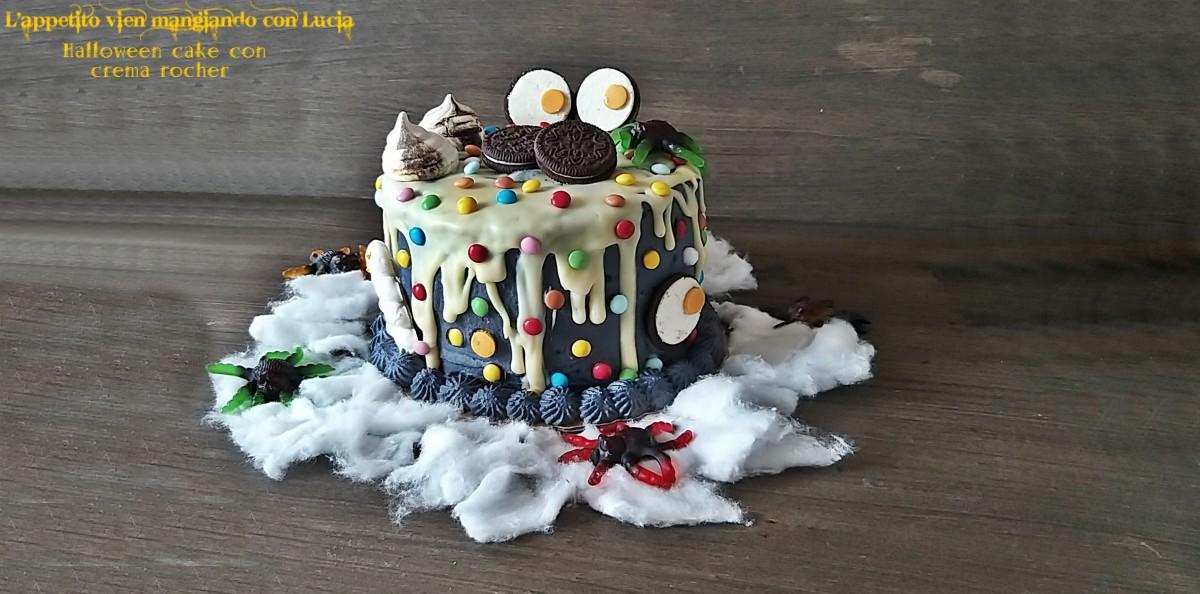 Halloween cake con crema rocher